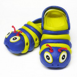 Navy and Yellow Bugz Shoe Stacked