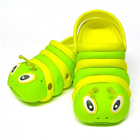 Green and Yellow Bugz Shoe Stacked